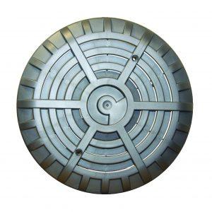Stainless steel main drain grille C/W screws & flange