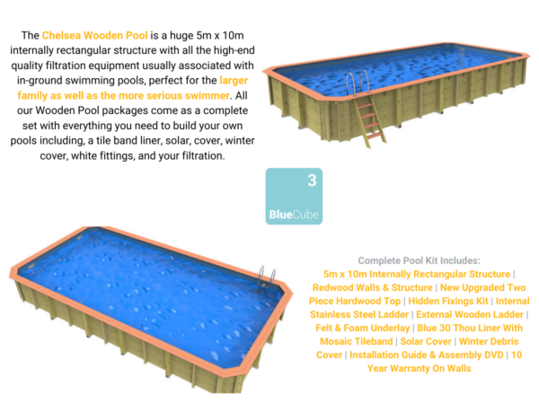 Chelsea Wooden Pool | Blue Cube Direct