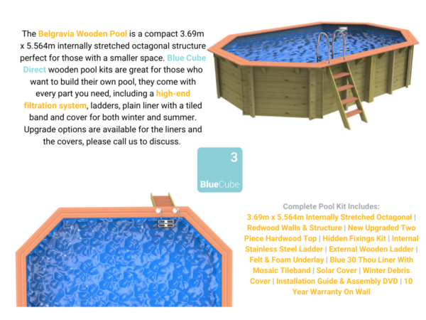 Belgravia Wooden Pool | Blue Cube Direct