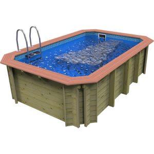 Wooden exercise pool with aquajet