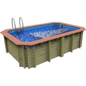 Wooden exercise pool with Badu Perla