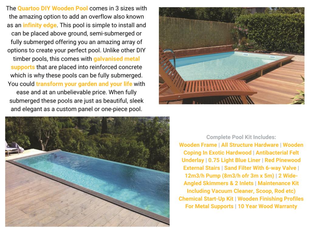 Quartoo wooden pool   Blue Cube Direct