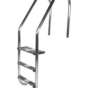 Stainless Steel Ladder with Double Top Tread