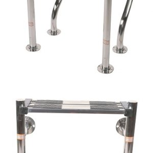 """1.7"""" Undercover Stainless Steel Pool Ladder 