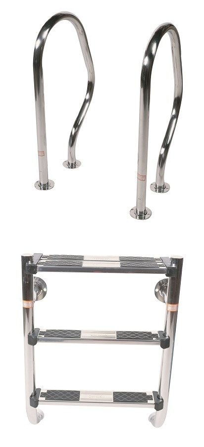 """1.7"""" Undercover Stainless Steel Pool Ladder"""