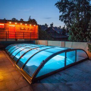 Azure Flat Pool Enclosure | Blue Cube Direct