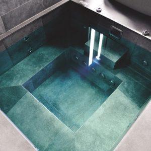 Custom tiled spa